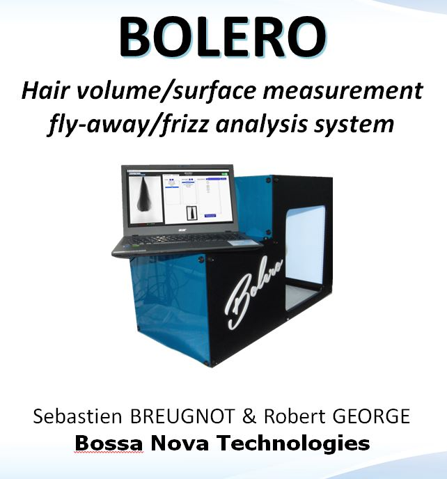 Bolero Volume frizz hair care claims bulk fly-away full rotation transmission calibration logo 3d easy 360 degrees full system Article Nutracos science scientist publication SPEquation straightening presentation