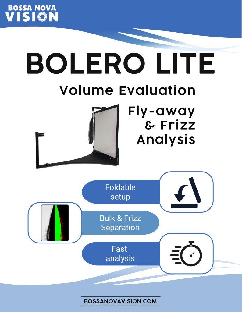 BOLERO Lite for hair volume frizz analysis
