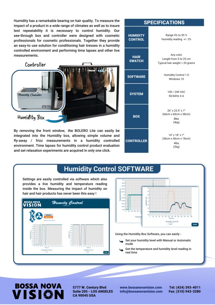 Brochure for humidity chamber 2