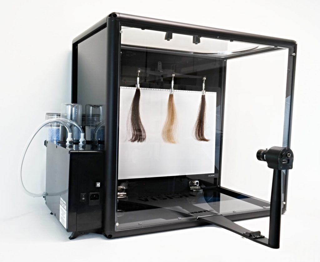 humidity chamber and controller for hair volume and frizz testing